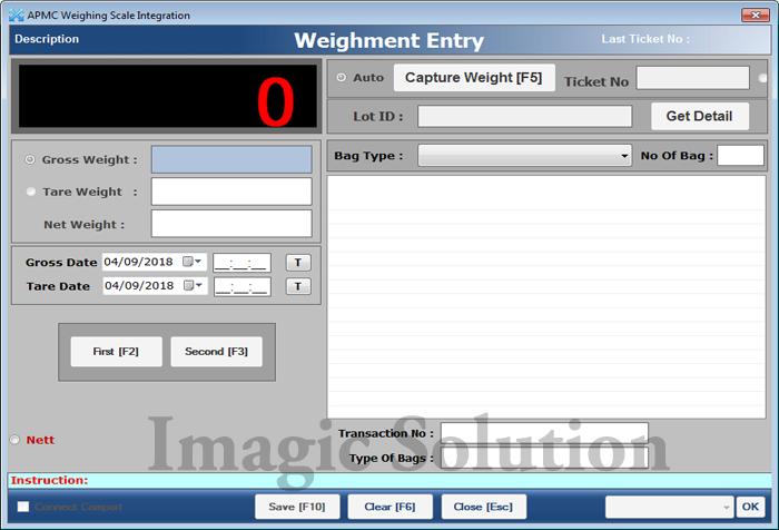 Weighbridge software For National Agriculture Market, eNAM