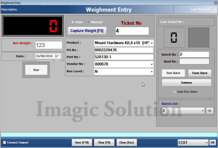 Weighing Scale Label Printing Software Weighing Scale
