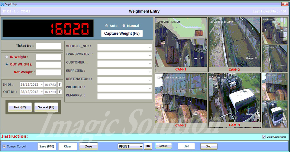 Vehicle photo capture on weighment time, CCTV Camera with